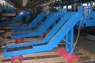 Assembly of heavy duty conveyors